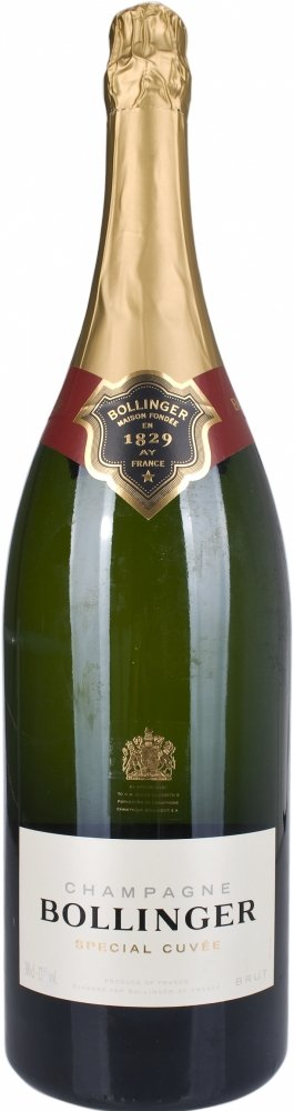 Bollinger Champagne Special Cuvee Jeroboam Champagne in Red Wooden Gift Box 300 cl