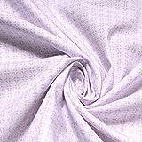 Stoff Baumwolle Popeline Kreise weiß flieder Baumwollstoff
