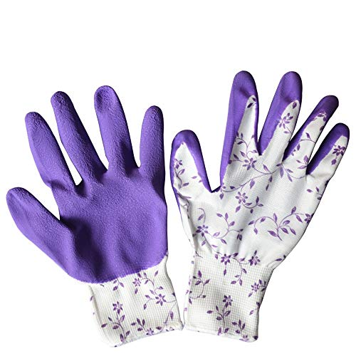YLYWCG 2 Paar Stichfeste Gartenhandschuhe - Arbeitsschutzhandschuhe - Damen/Herren - Arbeitshandschuhe - Geeignet Für Garten- Und Heimarbeiten (Farbe : Lila)