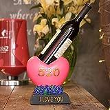 XIAOXINYUAN Zierpflanzen Red Wine Rack Red Wine Rack Bügeleisen Grape Wine Rack Mond Art Haushalt Wine Rack {21 * 9 * 26 Cm}