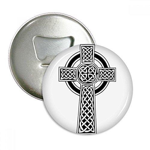 DIYthinker Religion Glaube Christentum Kreis Heilig-Kreuz-Runde Flaschenöffner Kühlschrank Magnet Pins Abzeichen-Knopf-Geschenk 3pcs