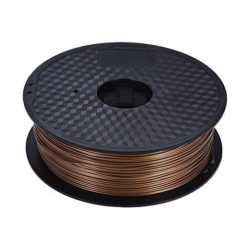 Preisvergleich Produktbild Aibecy 10 Farbe 3D Drucker PLA Filament Rolle 1kg 2.2lb 1.75mm für MakerBot RepRap 3D Drucker Stift, Beige/Golden/Grau/Schwarz/Lila/Braun/Gelb/Fluoreszenz Gelb/Fluoreszenz Orange/Fluoreszenz Rot