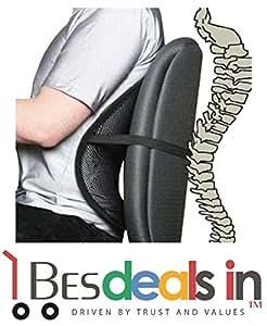 Style Eva Back Brace Support Chair Cushion for Office/Home/Car(Multicolour)