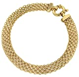 Carissima Gold 9ct Yellow Gold Bismark Bracelet of 19cm/7.5""