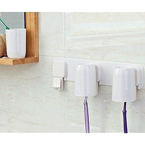 EIK Set bagno indipendente spazzolino da denti titolare polvere pennello testa in giù tazza della tazza