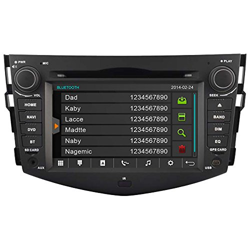 ecken Head Unit für Toyota RAV4 2006-2011 Doppel DIN in Dash Auto DVD Player GPS Sat Nav Navigation Stereo Support USB/SD/iPod/3G/1080p/Bluetooth/DVR/Lenkradfernbedienung ()