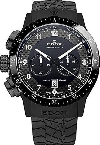 Edox Montre bracelet Mixte Edox Rally Instrument Chrono Rally 1Quartz Chronographe Caoutchouc 1030537N NN