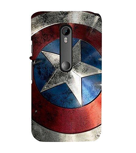 printtech Superhero Shield Star Back Case Cover for Motorola Moto G Turbo Edition