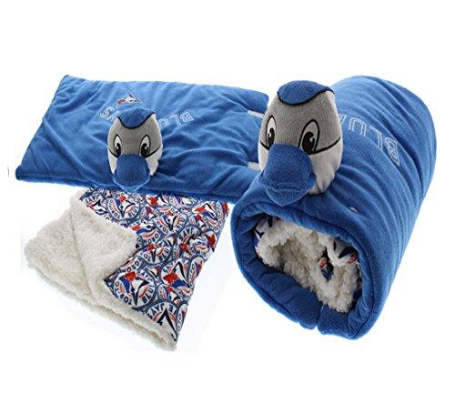 MLB Toronto Blue Jays Sherpa Baby Fleece Decke 78,7x 86,4cm & Plüsch Kissen Set