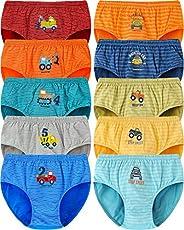 Adorel Mutande Slip Intimo Cotone Bambino Confezione da 10