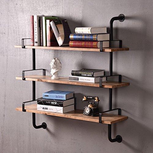 Mensola da parete in metallo in ferro per soggiorno bar in legno ...