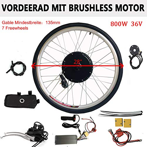 "DiLiBee E-Bike Umbausatz 28\"" 135MM Elektrofahrrad Heckmotor-Umbausat E-Bike Hinterradumrüstsatz (36V 800W)"
