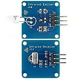 Ils - Mini 38KHz IR Infrarot-Sendemodul + IR Infrarot-Empfänger-Sensor-Modul für Arduino RPI STM