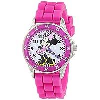 Minnie Mouse Unisex Kind Analoog Klassiek Quartz Horloge met Rubber Band MN1157