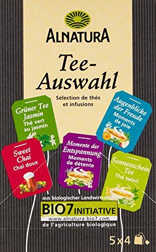Alnatura Tee-Auswahl, 5 Sorten á 4 Beutel, 6er Pack (6 x 34 g)