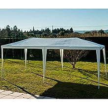 Provence Outillage 05338-Tendone per ricevimenti, 3 x 6 m, Colore: Bianco