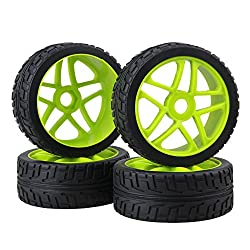 BQLZR 17mm RC 1:8 Off-road Car Star Hub Tires For Running On The Cement Ground Pack Of 4