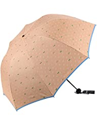 Syksdy Parasol Parasol But Double Protection Uv Colle Noire,Pliage Je