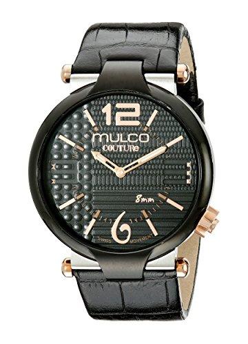 MULCO Men's MW5-3183-025 Couture Slim Analog Display Swiss Quartz Black Watch