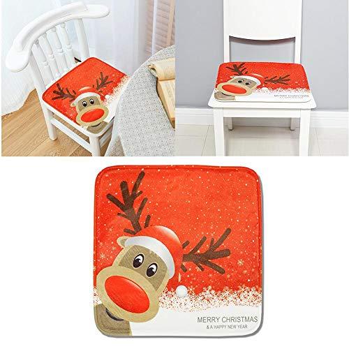 Outdoor-rentier (Seasaleshop Sitzkissen Stuhlkissen 40x40cm für Indoor und Outdoor Memory Foam Rutschfeste Wasserabsorbierende Kissen Weihnachten Rentier)