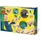 SES Creative - Set de carpintería para niños, multicolor (00943)