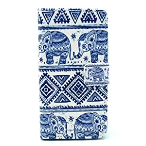 Keep Calm and Tribe Pattern Cute Fashion Magnetic Snap Wallet Flip TPU Leather with Stand Cover Case for Sony Xperia Z1 Compact Mini D5503 M51w(not for Sony Xperia Z1s)(package Includes: 1 X Screen Protector and Stylus Pen Image gift_source )
