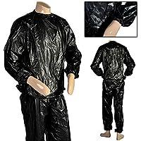 JJOnlineStore–Pérdida de Peso todo cuerpo fitness ejercicio para interiores y exteriores de sudor traje de sauna–Negro, talla única