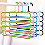 #3: ON GATE 5 Layers Clothes Rack Holder Hook Pants Trousers Denim Jeans Scarf Coat Hanger(Pack of 3 Pcs)