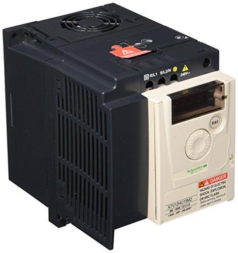 Schneider ATV12HU15M2 Frequenzumrichter ATV12, 1, 5kW, 2HP, 200.240V, 1-PH. mit Kühlkörper (1-ph-motor)