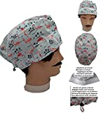 Scrub hat theatre Cap PINK FLAMINGOS Short Hair with sweatband ajutable to your liking Surgery, Nurse, Veterinary Doctor