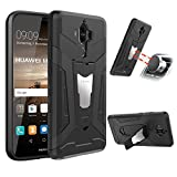 Coque Huawei Mate 9, ykooe Armor Support Protection Étui,anti chocs Bumper Étui Hybride protection Housse Cover pour Huawei Mate 9 –Noir