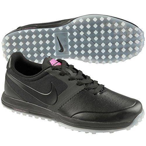 Nike Lunar Mont Royal, Scarpe da Golf Uomo Multicolore Negro/Blanco/Rosa (Black/Black-White-Pink Pow) 44 1/2