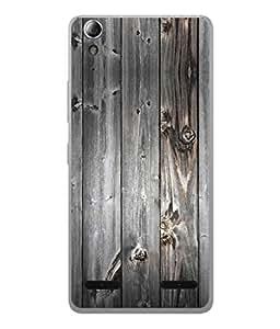 Fuson Designer Back Case Cover for Lenovo A6000 Plus :: Lenovo A6000+ :: Lenovo A6000 (Wood Lakadi Antique Fashion Wood finish Dark Grey )