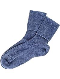 Ladies Denim Blue Cashmere Socks