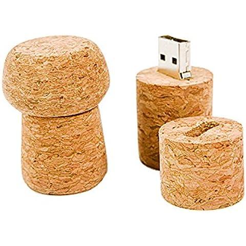 Biosughero - Memoria chiavetta USB da 4 GB a forma di tappo in sughero - Foto Sapone