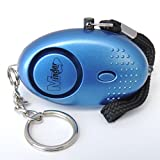 Minder® 140db Police Approved Metallic Blue Mini Minder Loud Personal Staff Panic Rape Attack Safety Security Alarm Keyring with Torch - Secured by Design Approved (Police Preferred Specification)