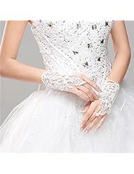 DELLT- Lace Gants de fuite creux Fleurs tridimensionnelles Mariage Gants de mariage Accessoires de mariage coréen Gants