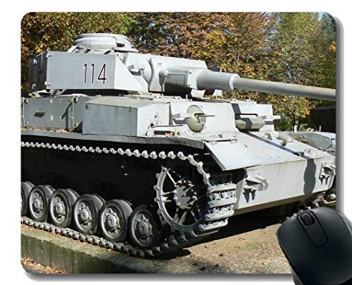 Gaming Mouse Pad Benutzerdefinierte, militärische Panzer IV Mauspad mit genähtem Rand -