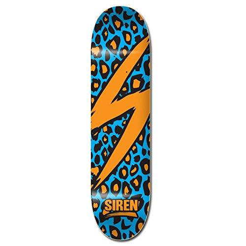 Siren komplett Team Leopard Waveboard Skateboard, 21cm, orange