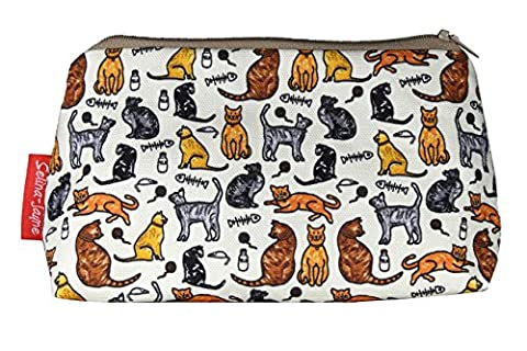 Selina-Jayne Cats Limited Edition Designer Cosmetic Bag