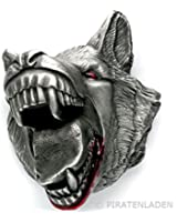 Buckle with wolf head, wolf, Extreme 3D, belt buckle