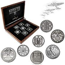 IMPACTO COLECCIONABLES Monedas Antiguas - 7 Monedas en Plata, Colección Segunda Guerra Mundial 1939-