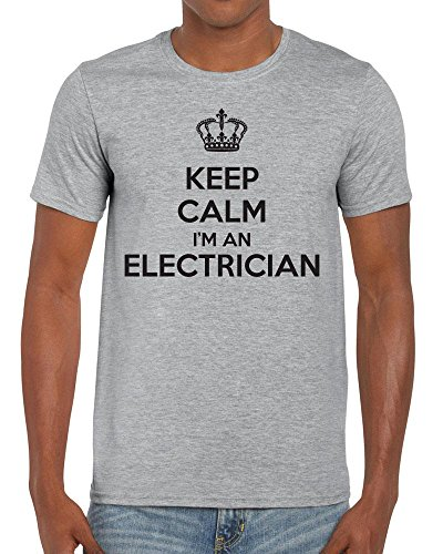 TeeDemon Keep Calm I'm an Electrician - Carry On - Funny - Mens Shirts - Men's Tshirt Casual T-Shirt Gift by