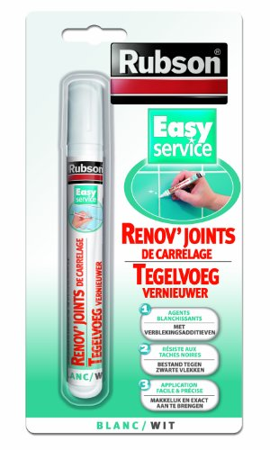 RUBSON 1767085 Easy Service Rénov'Joints de carrelage Blanc 7 ml