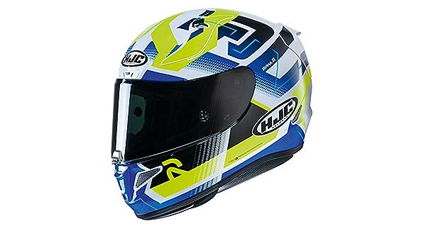 Hjc Rpha 11 Nectus Mc24h Motorradhelm Blau Gelb Sport Freizeit