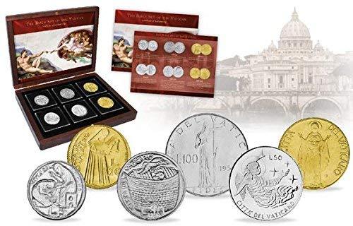 IMPACTO COLECCIONABLES Vatikan, 6 Münzen - Jahr 1955-1990 - Bibelsatz des Vatikans