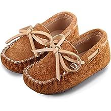 katliu Mocasines Niño y Niña Zapatos Cuero de Gamuza Bebe para Primavera Verano
