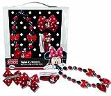 Coriex D96412 Haarset Bestehend aus Haarband, Clips, Gummies Im Disney Minnie Design