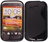 For HTC Desire C Various New Designs Rubber Silicone Gel Back Skin Case Cover + Stylus