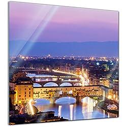 Glasbild - Florenz - Italien - 30x30 - Deko Glas - Wandbild aus Glas - Bild auf Glas - Moderne Glasbilder - Glasfoto - Echtglas - kein Acryl - Handmade